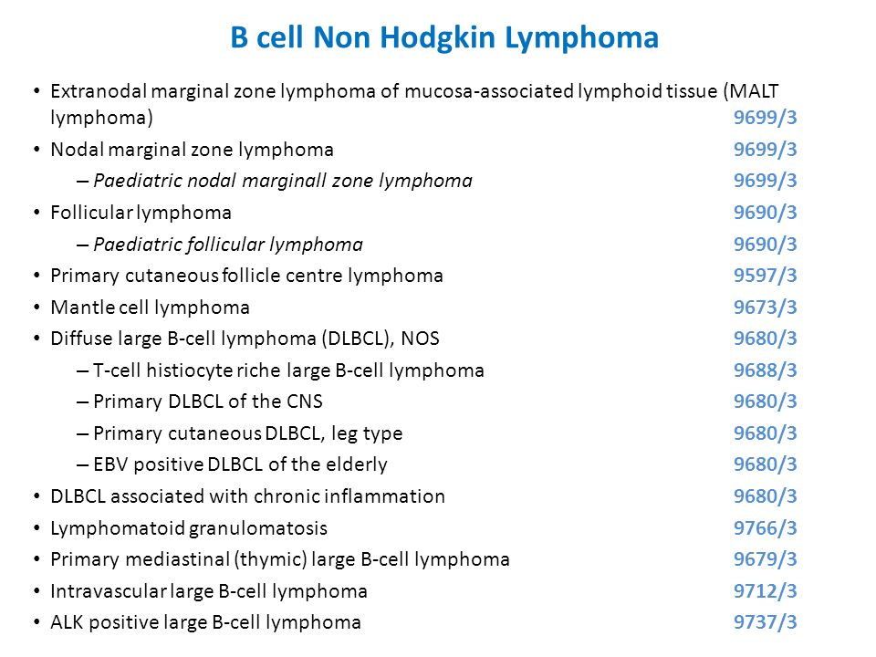 B cell Non Hodgkin Lymphoma