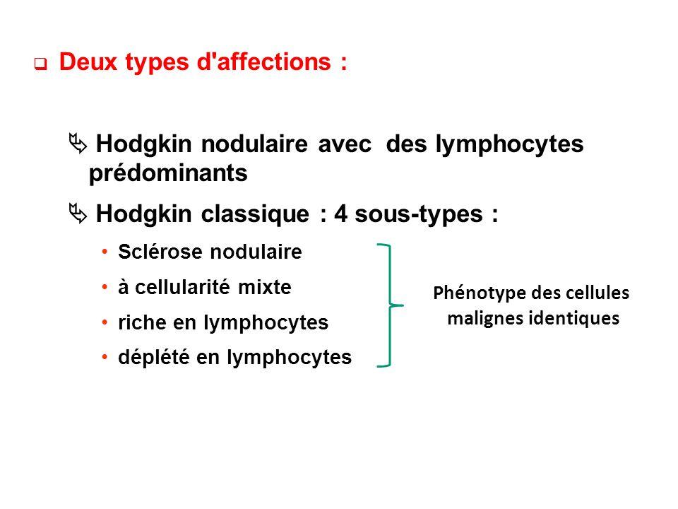 Phénotype des cellules malignes identiques