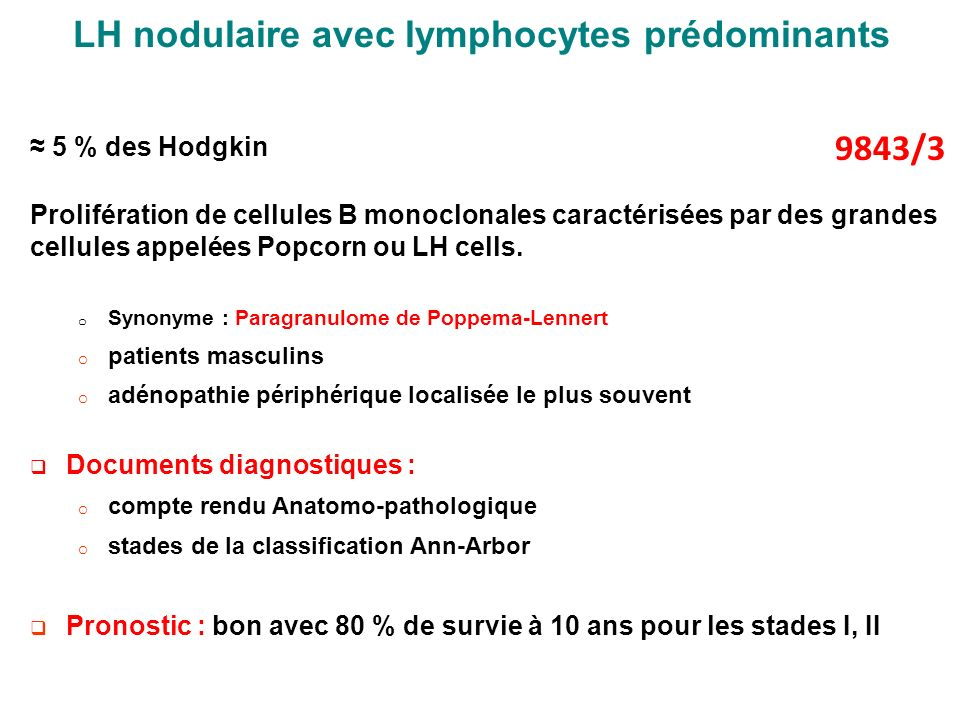 LH nodulaire avec lymphocytes prédominants