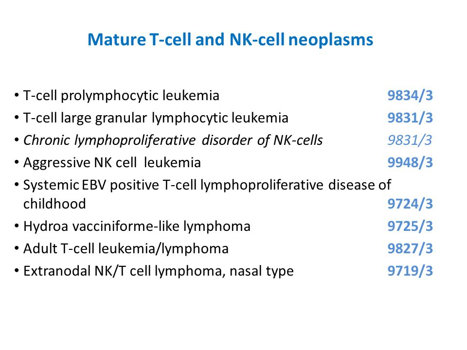 Mature T-cell and NK-cell neoplasms