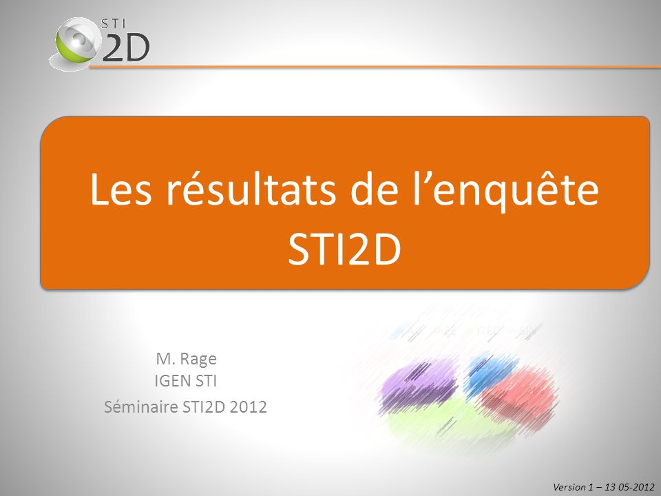 M. Rage IGEN STI Séminaire STI2D 2012