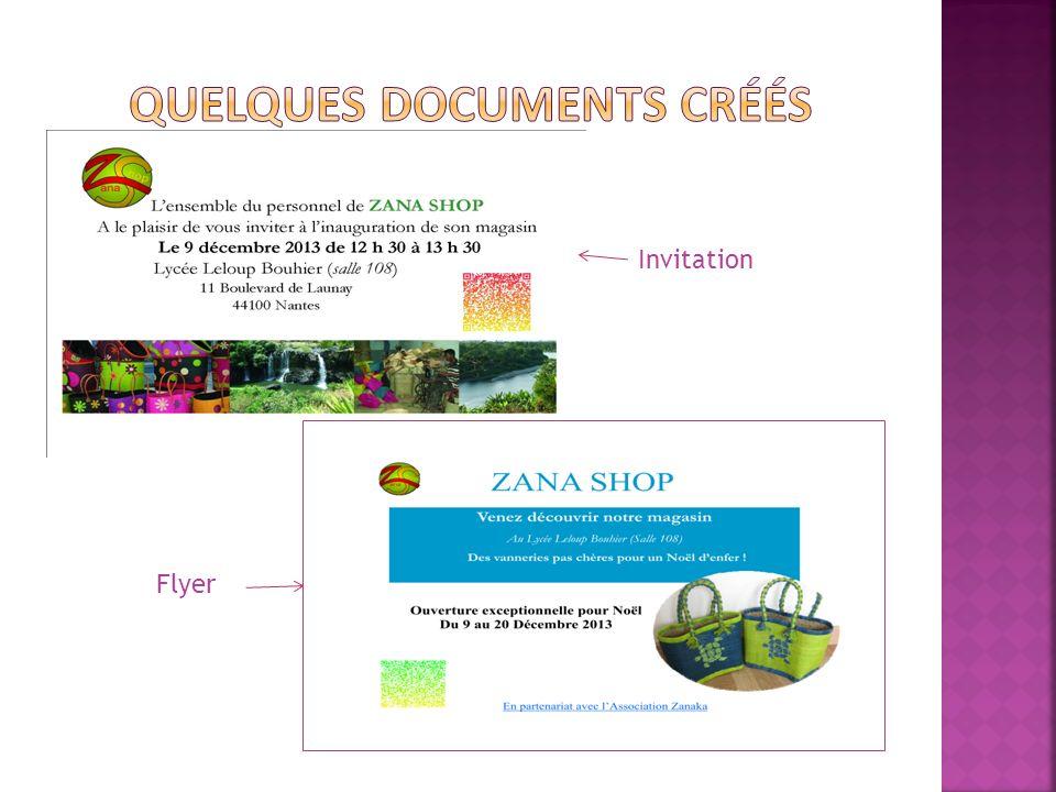 Quelques documents créés