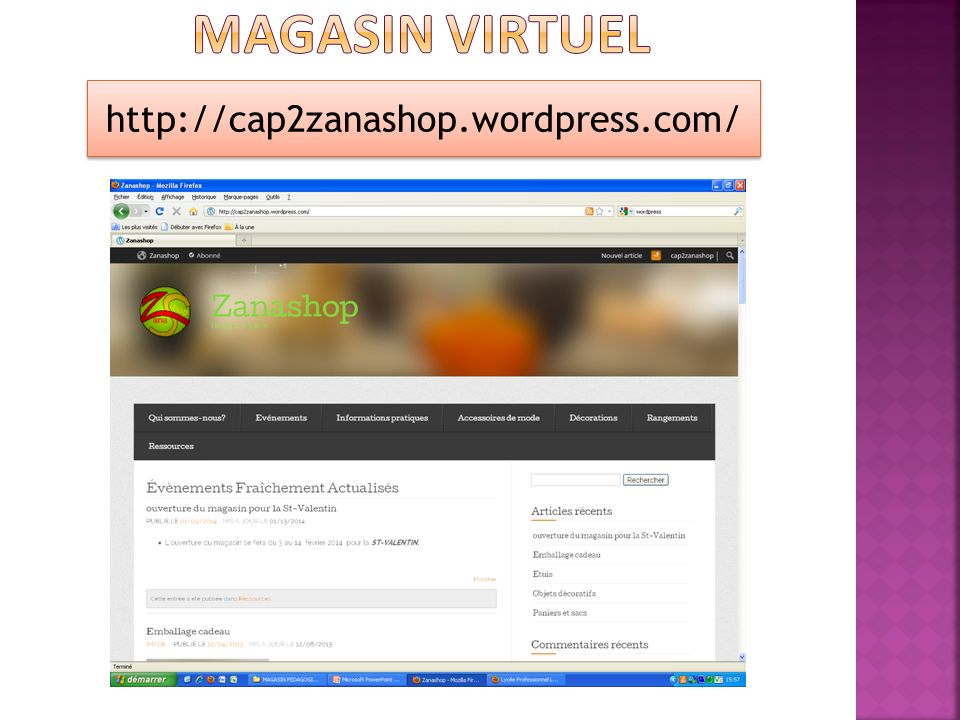Magasin virtuel http://cap2zanashop.wordpress.com/