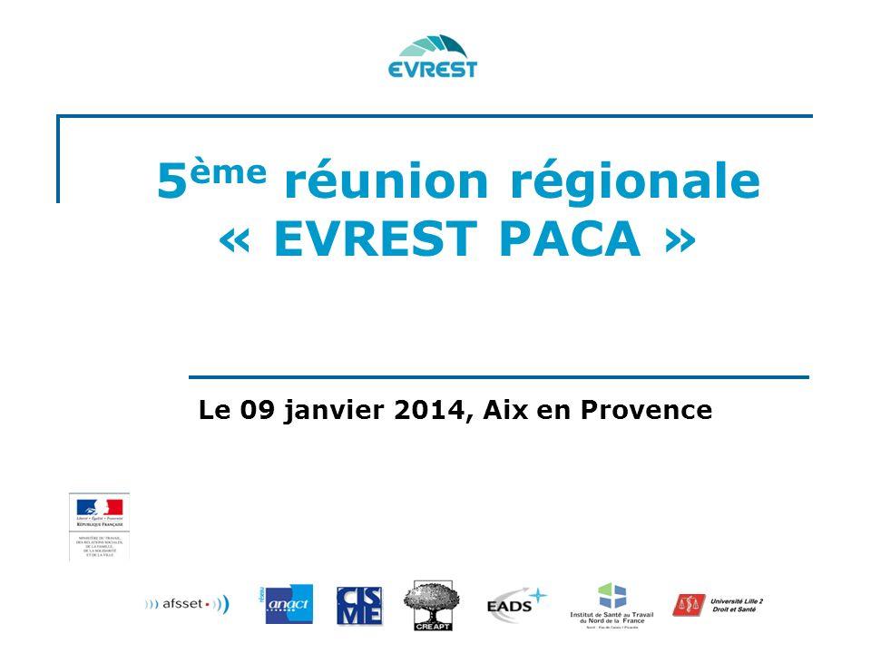 5ème réunion régionale « EVREST PACA »