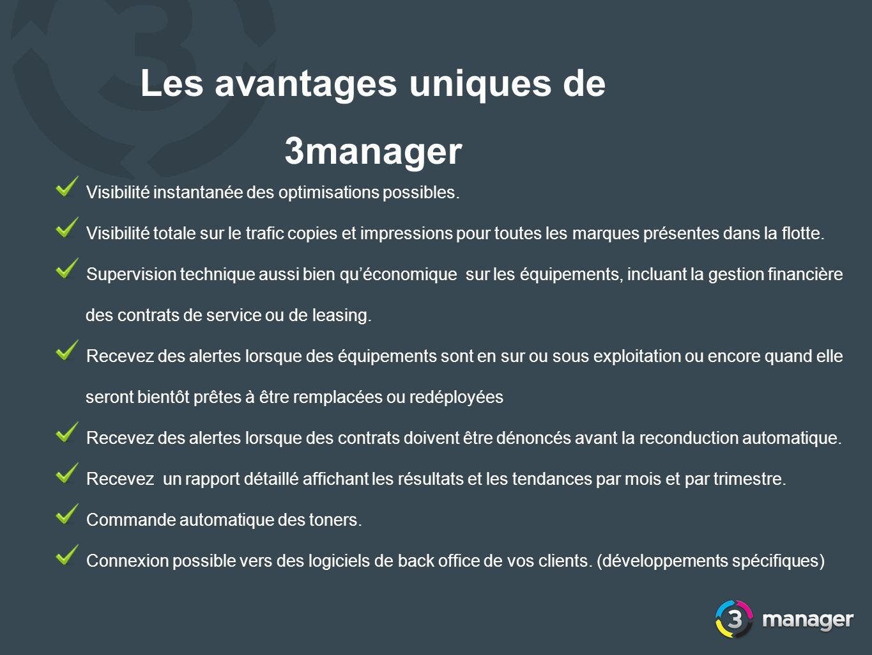 Les avantages uniques de 3manager