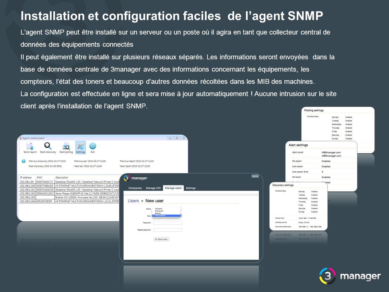 Installation et configuration faciles de l'agent SNMP