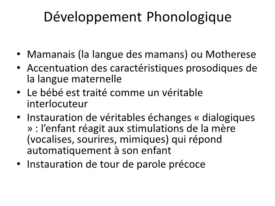 Développement Phonologique