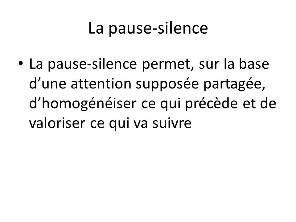 La pause-silence