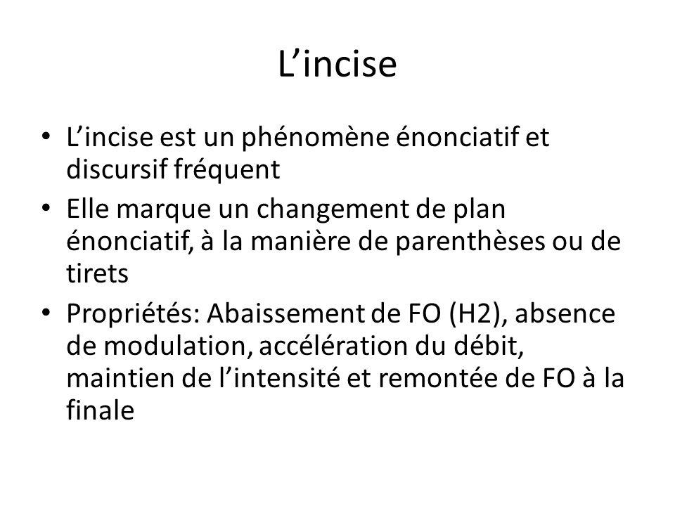 L'incise L'incise est un phénomène énonciatif et discursif fréquent