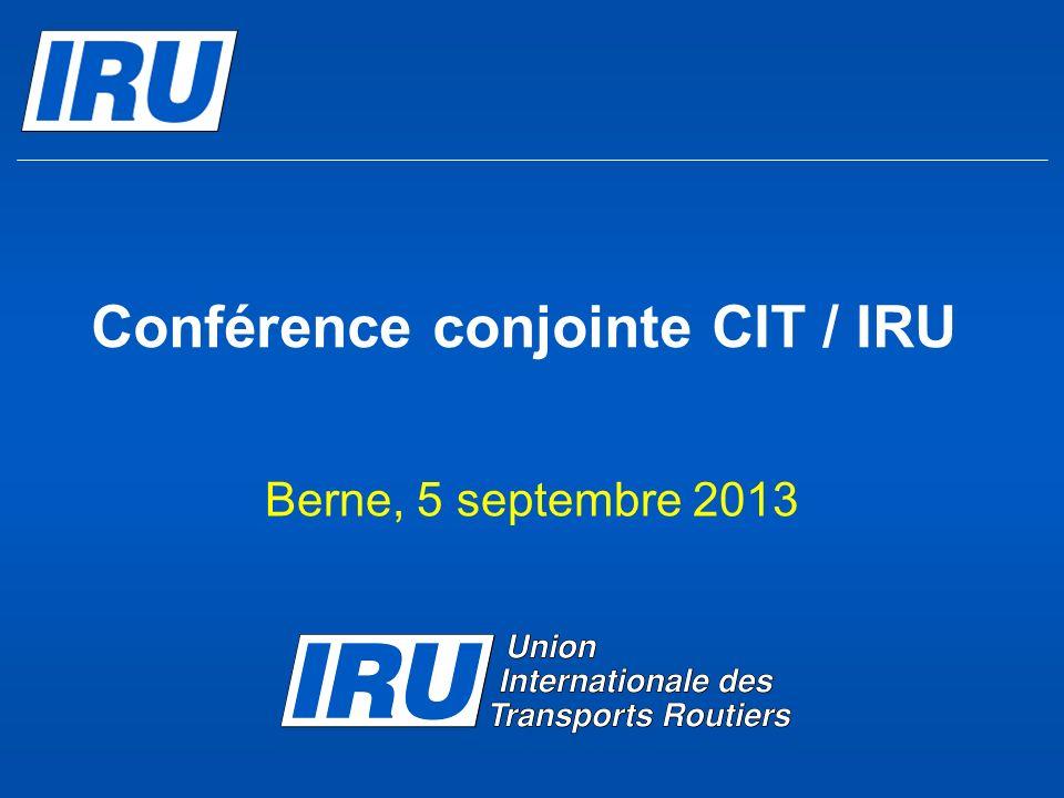 Conférence conjointe CIT / IRU
