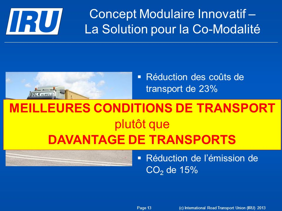 Concept Modulaire Innovatif – La Solution pour la Co-Modalité