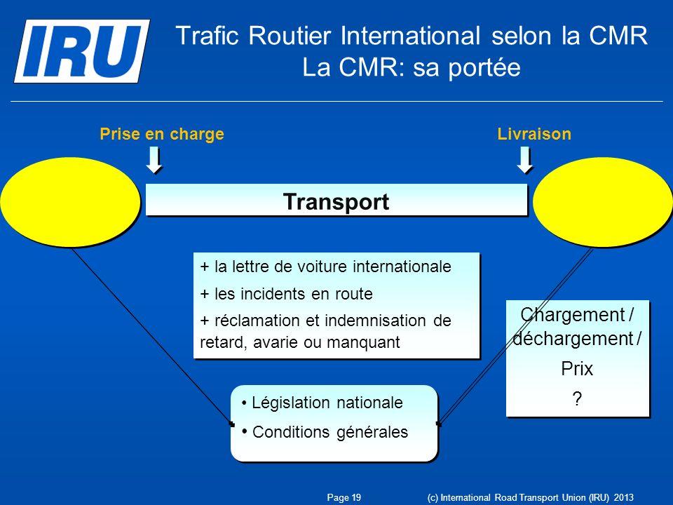 Trafic Routier International selon la CMR La CMR: sa portée