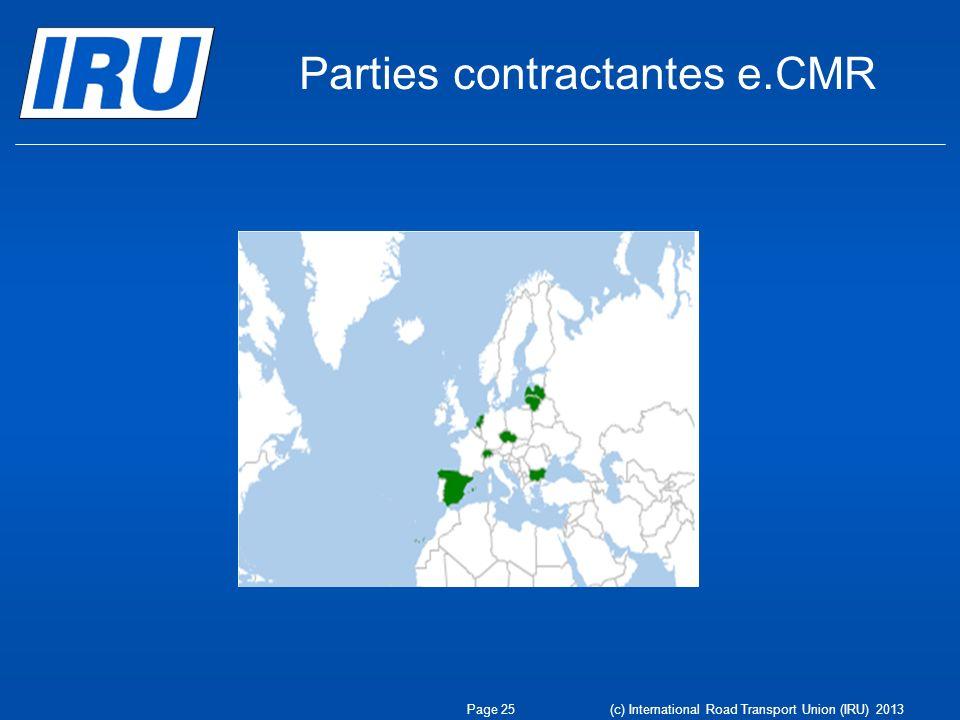 Parties contractantes e.CMR
