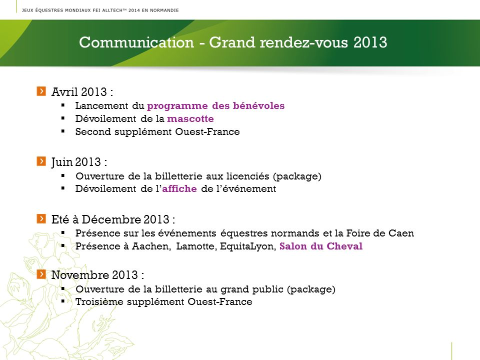 Communication - Grand rendez-vous 2013
