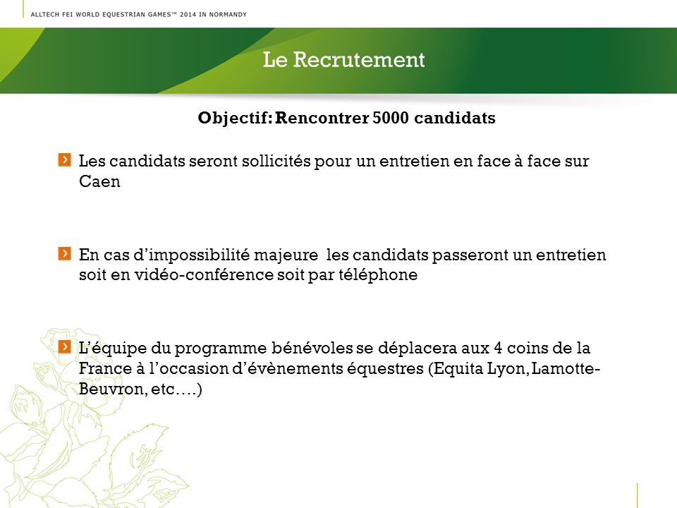 Objectif: Rencontrer 5000 candidats