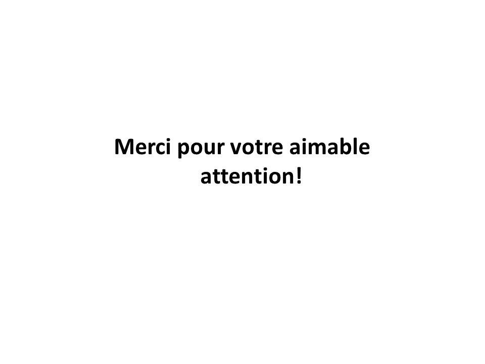 Merci pour votre aimable attention!