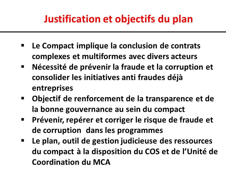 Justification et objectifs du plan