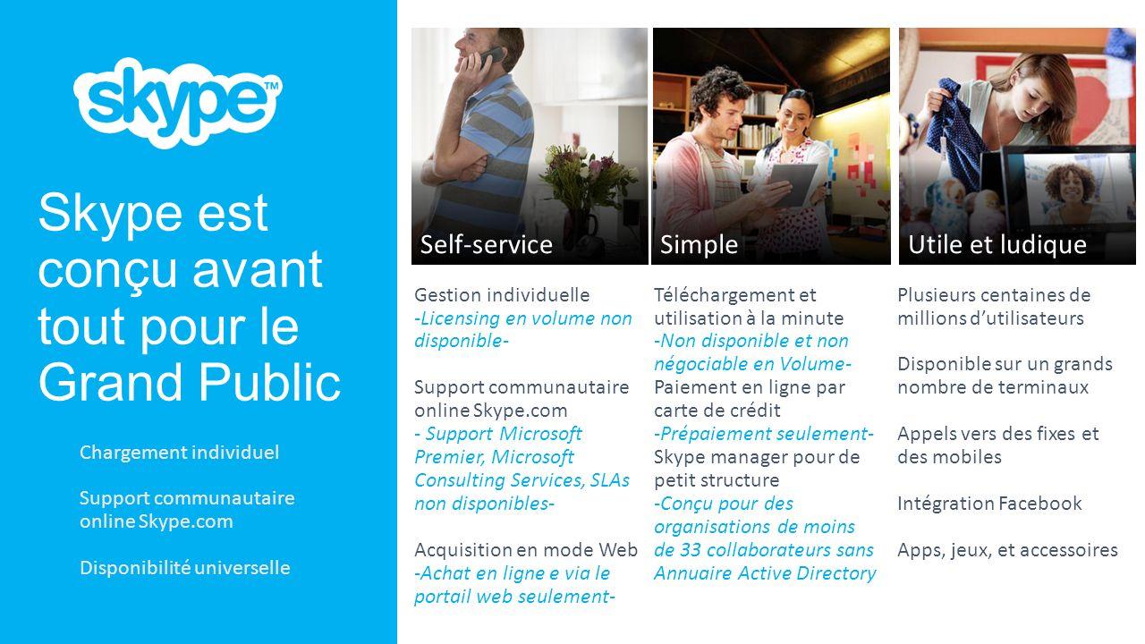 Skype est conçu avant tout pour le Grand Public