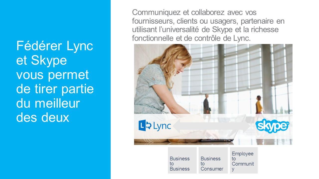 Fédérer Lync et Skype vous permet de tirer partie du meilleur des deux