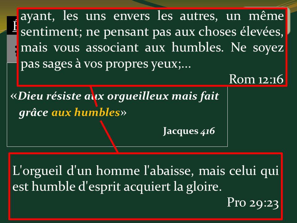 # 7 «Dieu résiste aux orgueilleux mais fait grâce aux humbles»