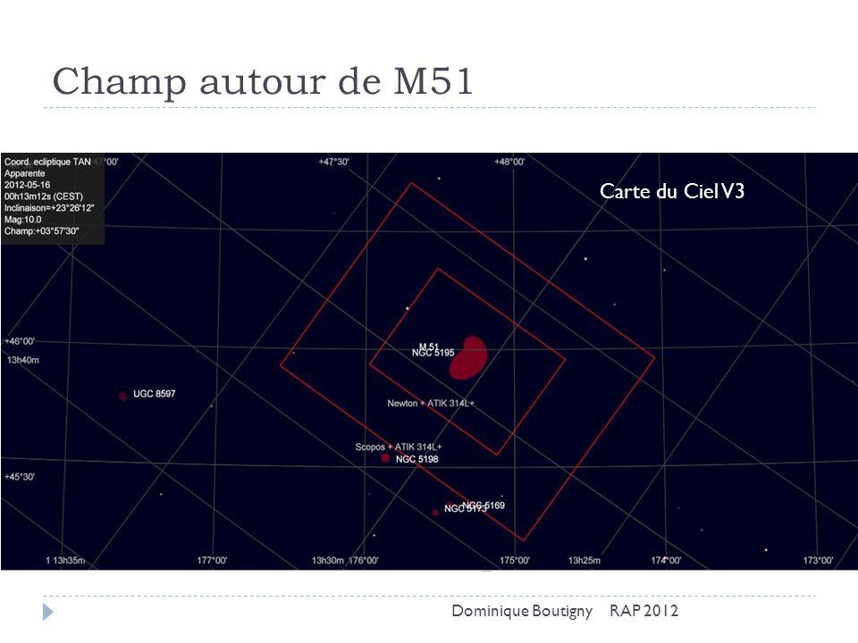 Champ autour de M51 Carte du Ciel V3 Dominique Boutigny RAP 2012