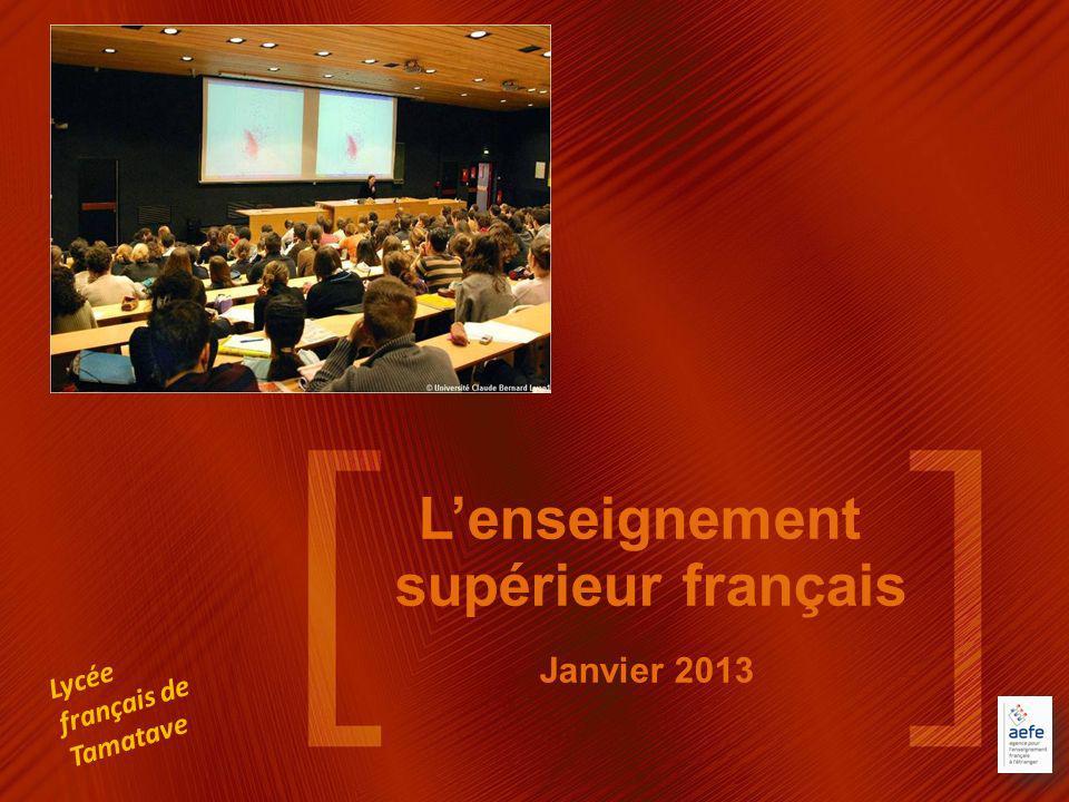 L'enseignement supérieur français