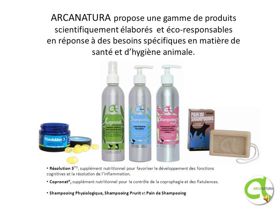 ARCANATURA propose une gamme de produits scientifiquement élaborés et éco-responsables en réponse à des besoins spécifiques en matière de santé et d'hygiène animale.