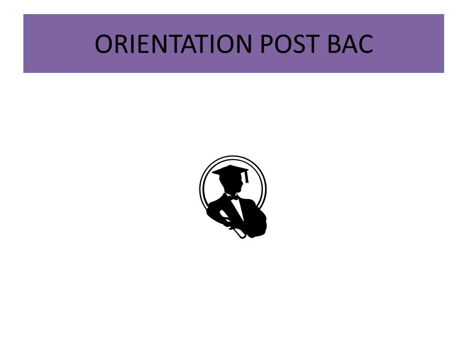 ORIENTATION POST BAC