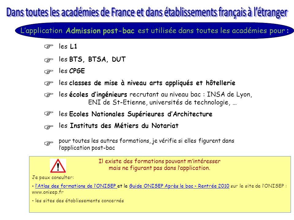 Dans toutes les académies de France et dans établissements français à l'étranger