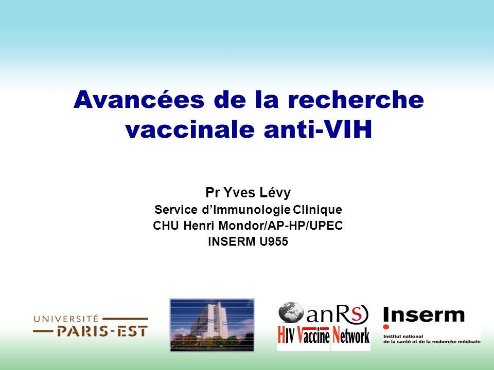 Avancées de la recherche vaccinale anti-VIH