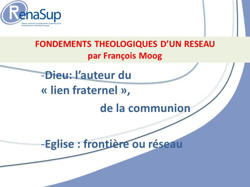 FONDEMENTS THEOLOGIQUES D'UN RESEAU