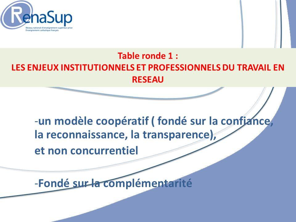 LES ENJEUX INSTITUTIONNELS ET PROFESSIONNELS DU TRAVAIL EN RESEAU