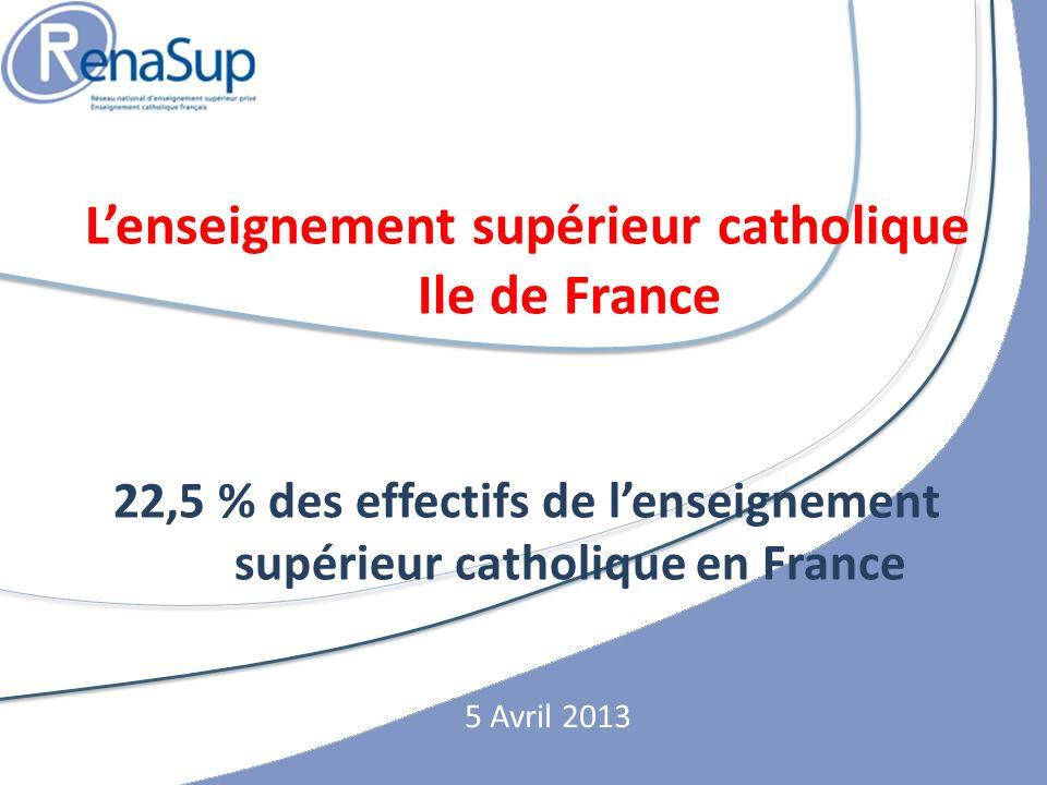 L'enseignement supérieur catholique Ile de France