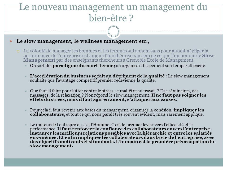 Le nouveau management un management du bien-être