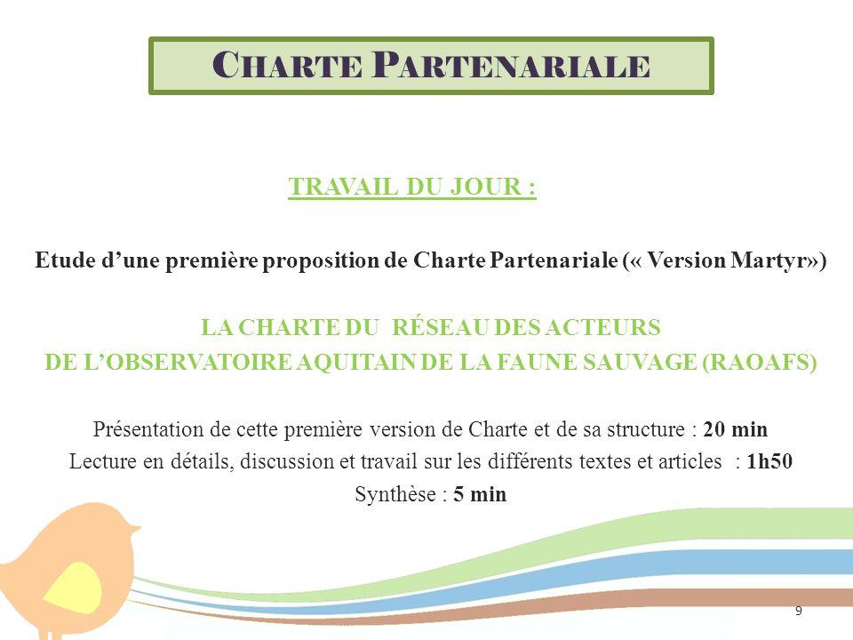 Charte Partenariale travail du jour :