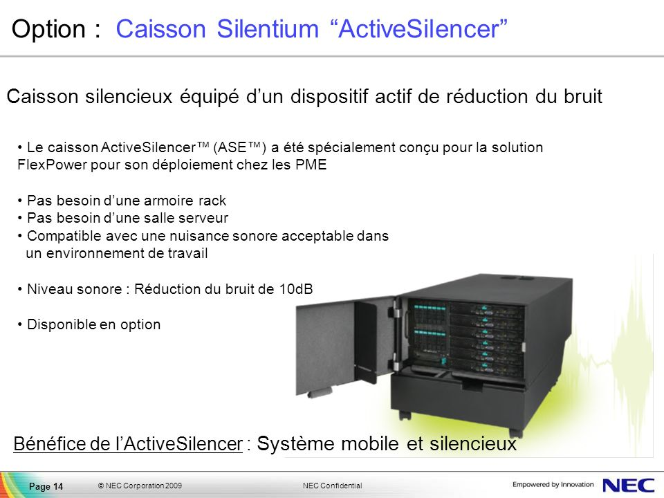 Option : Caisson Silentium ActiveSilencer