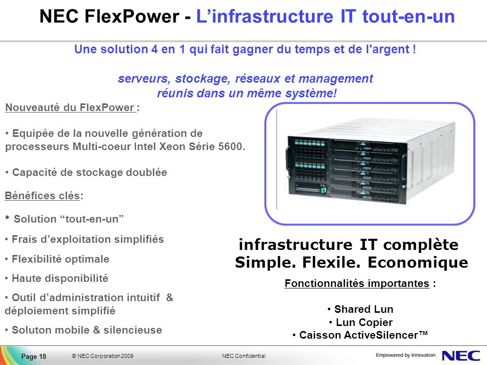 NEC FlexPower - L'infrastructure IT tout-en-un