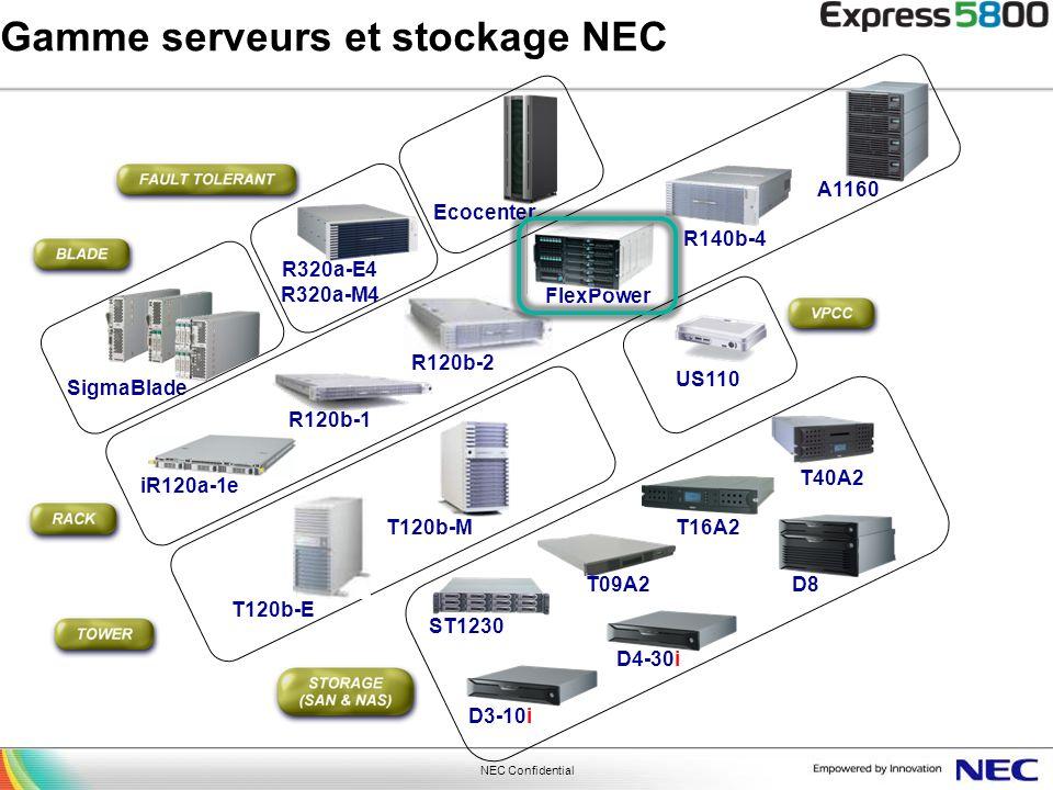 Gamme serveurs et stockage NEC