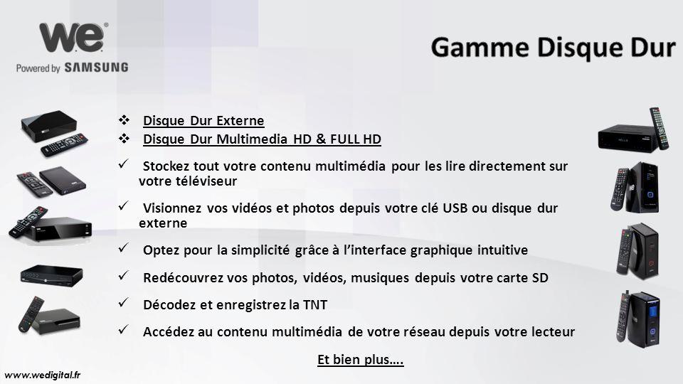 Gamme Disque Dur Disque Dur Externe Disque Dur Multimedia HD & FULL HD