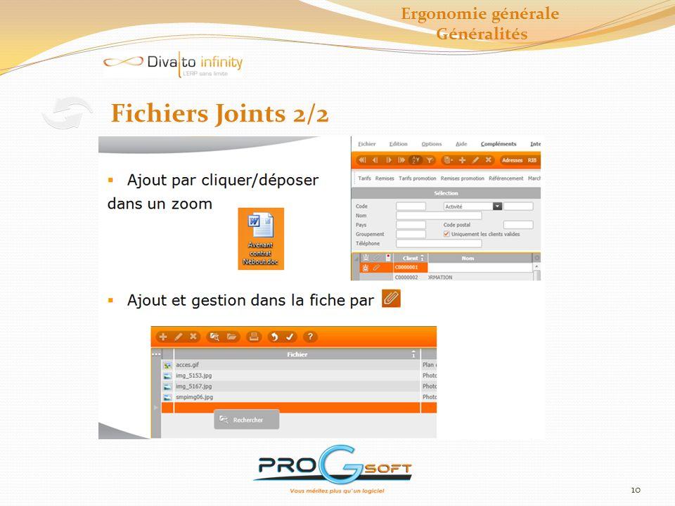 Ergonomie générale Généralités Fichiers Joints 2/2