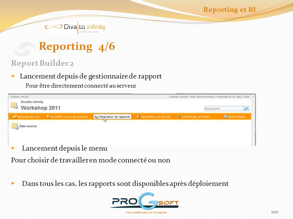 Reporting 4/6 Report Builder 2 Reporting et BI