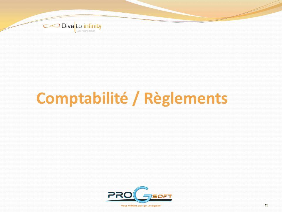 Comptabilité / Règlements
