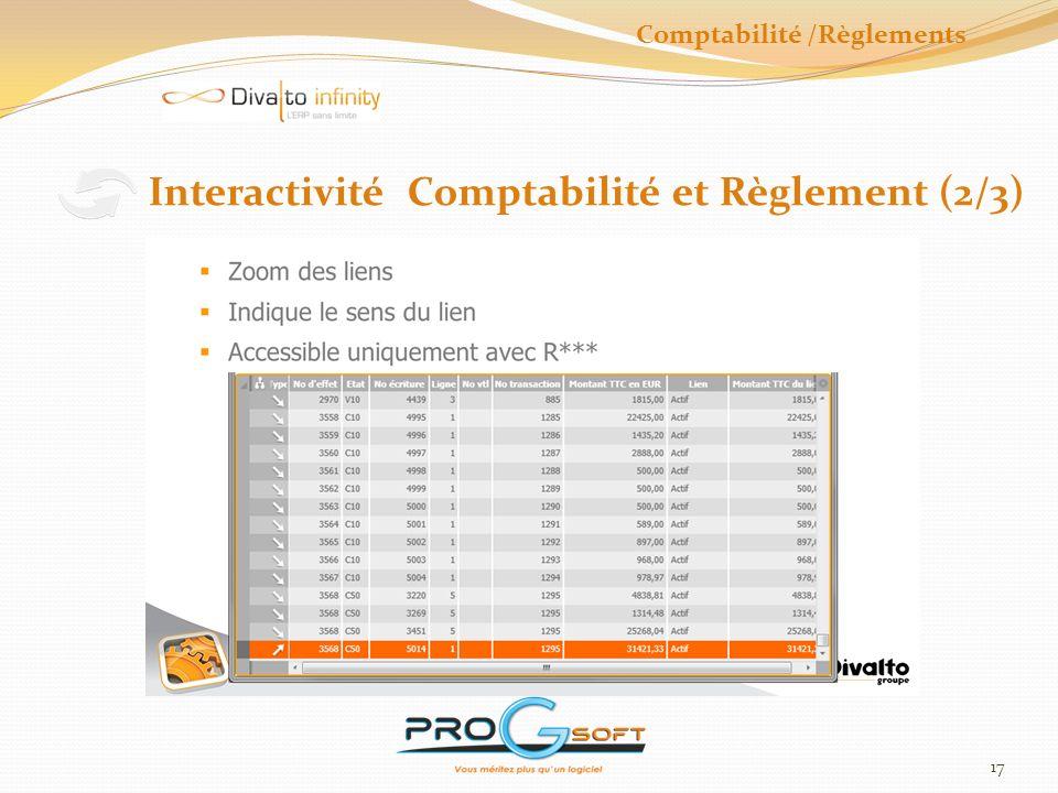 Comptabilité /Règlements