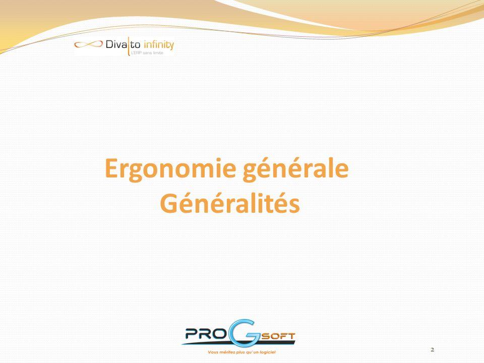 Ergonomie générale Généralités