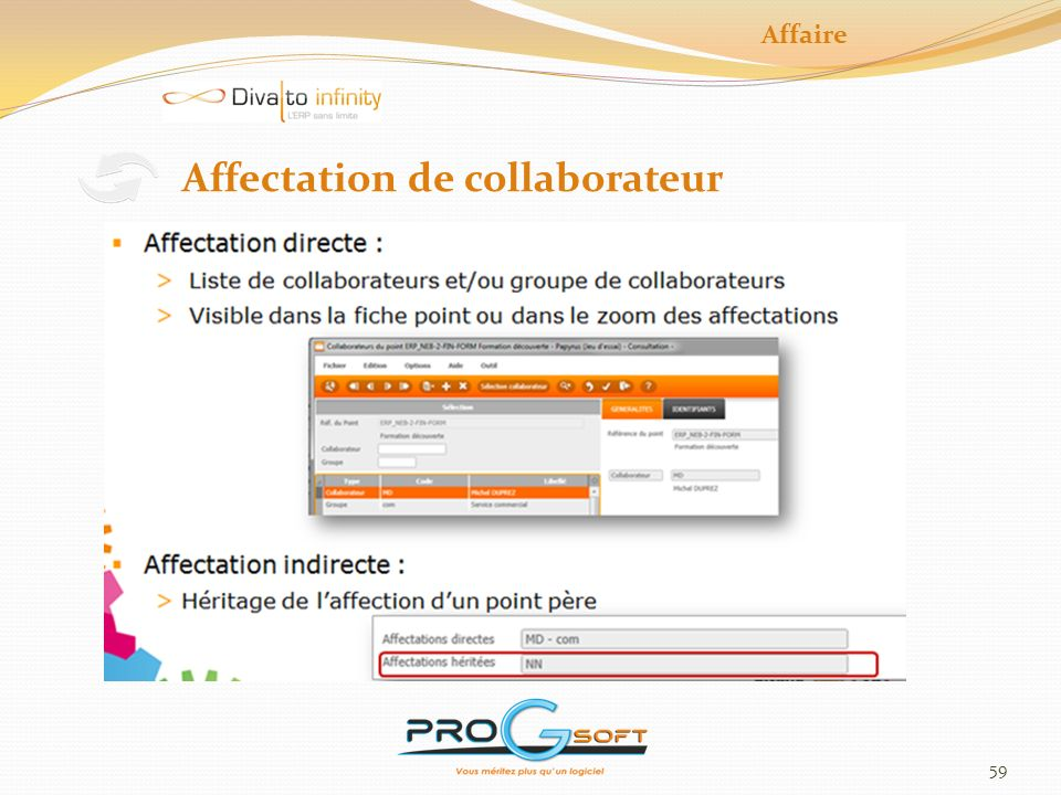Affectation de collaborateur