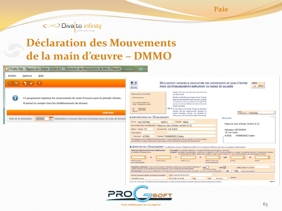 Déclaration des Mouvements de la main d'œuvre – DMMO