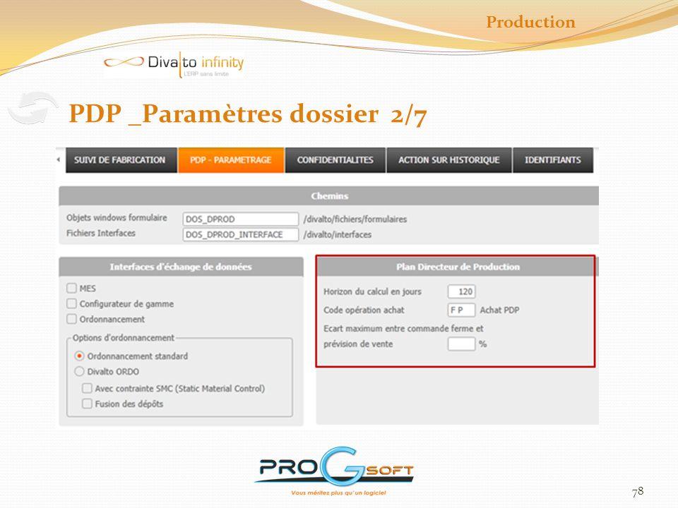 PDP _Paramètres dossier 2/7