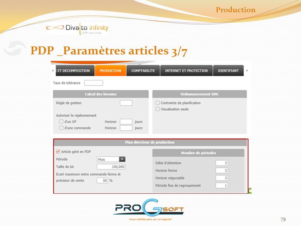 PDP _Paramètres articles 3/7