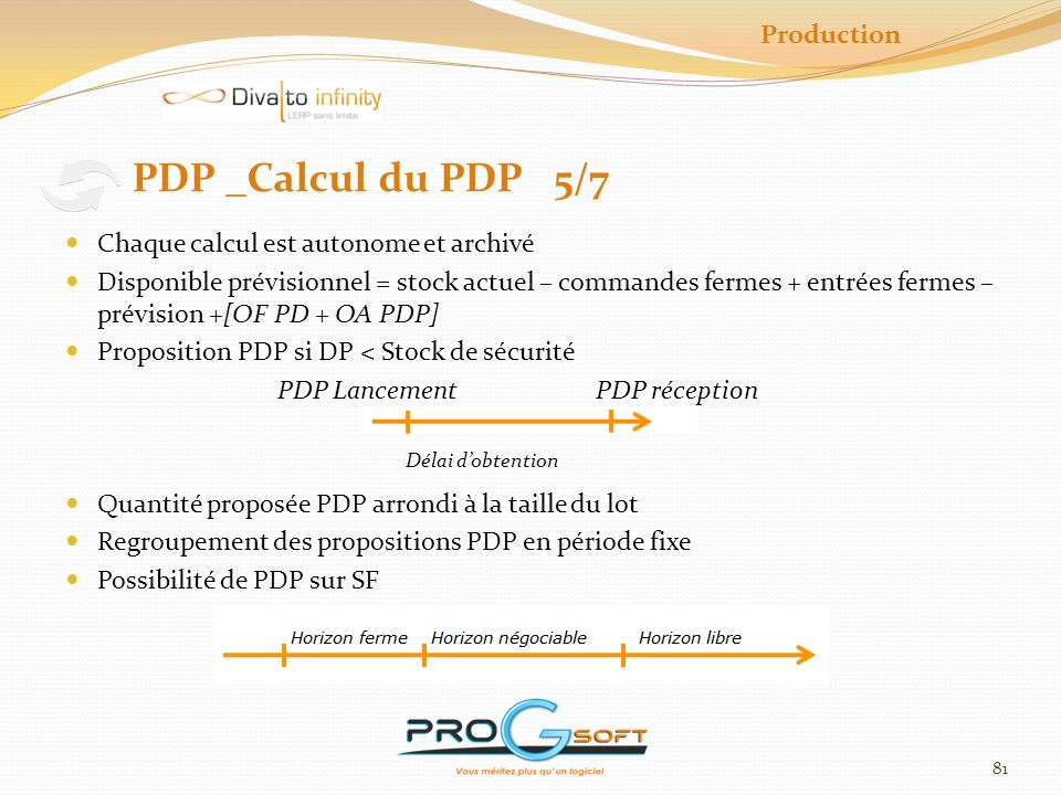 PDP _Calcul du PDP 5/7 Production