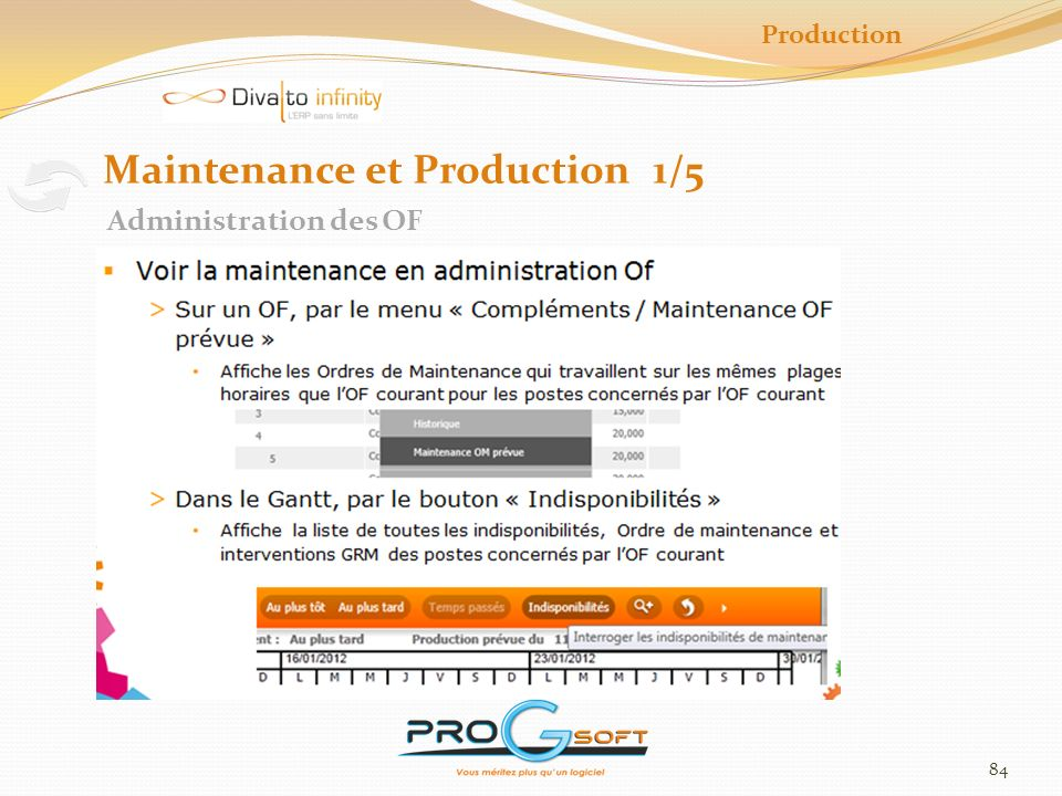 Maintenance et Production 1/5